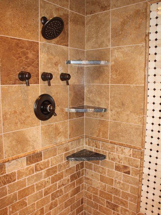 تراورتن شکلاتی در دیوار حمام